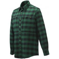 Sur-chemise Beretta bucheron en flanelle à carreaux verts