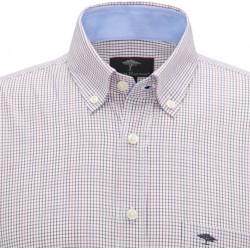 chemise 100% coton à petits carreaux