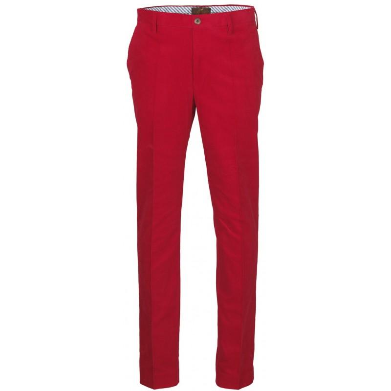Pantalon en velours Laksen Kensington rouge