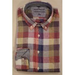 Chemise à carreaux en lin Fynch-Hatton