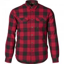 Chemise à carreaux rouge...